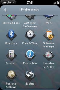 webOS 2.0  preliminar