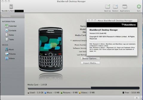 Im genes filtradas del blackberry desktop manager para mac for Como se escribe beta