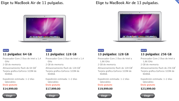 preciosMacbookAirMexico