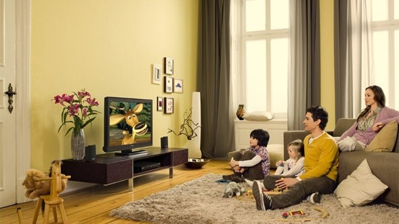 family-sony-hdtv-watching