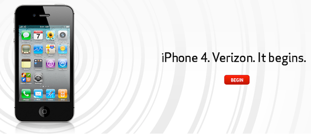iPhone 4 Verizon HomePage