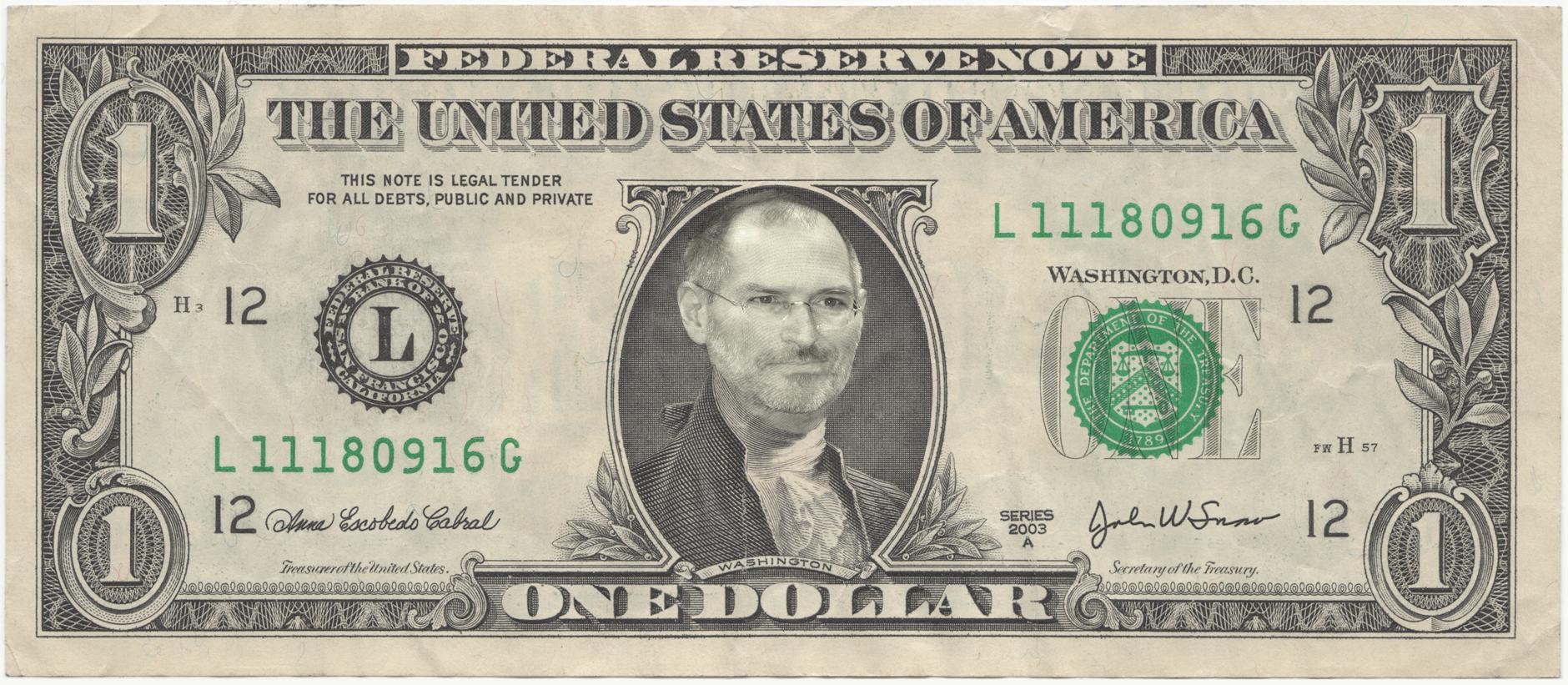 Dollar Steve Jobs