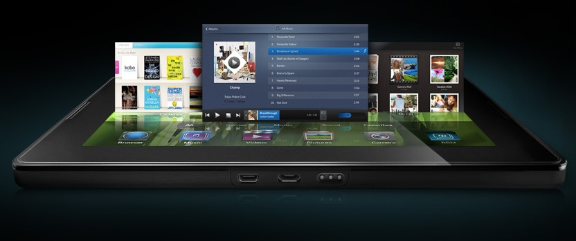 BlackBerry PlayBook Acostada
