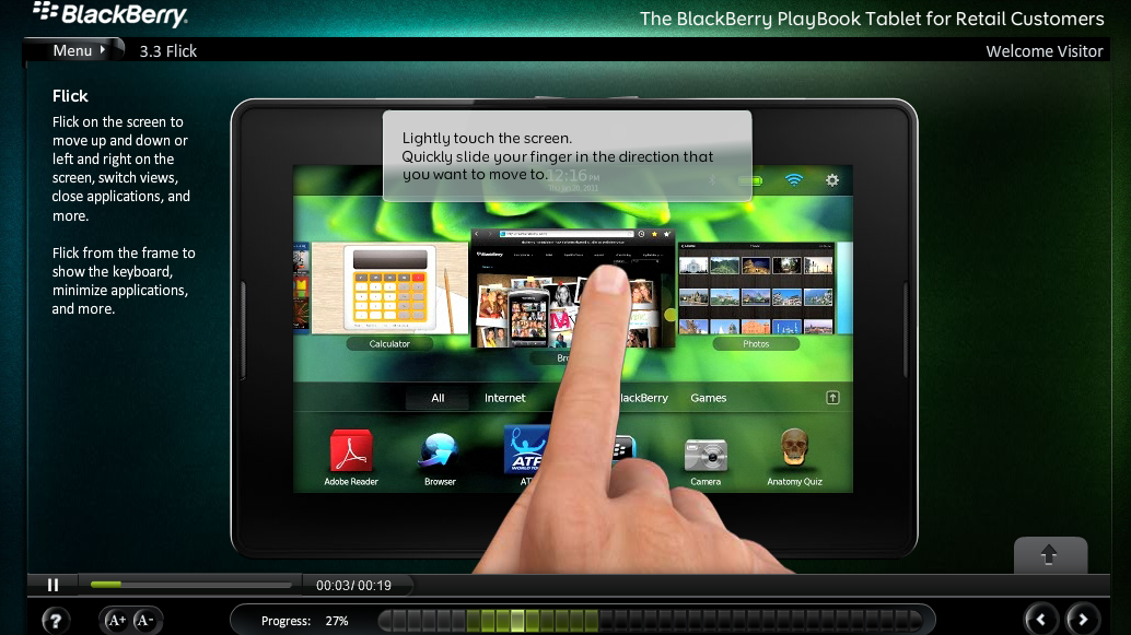 BlackBerry PlayBook Sitio Oficial Mexico