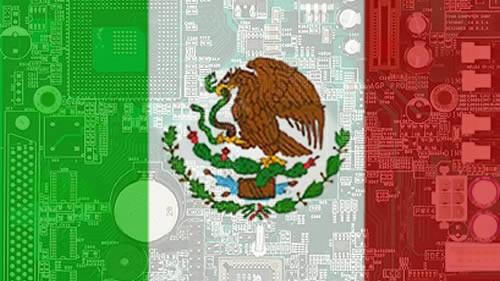 Mexico Tecnologia Bandera