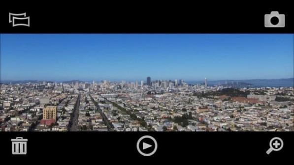Panorama permite tomar fotos panorámicas en los SE Xperia X10