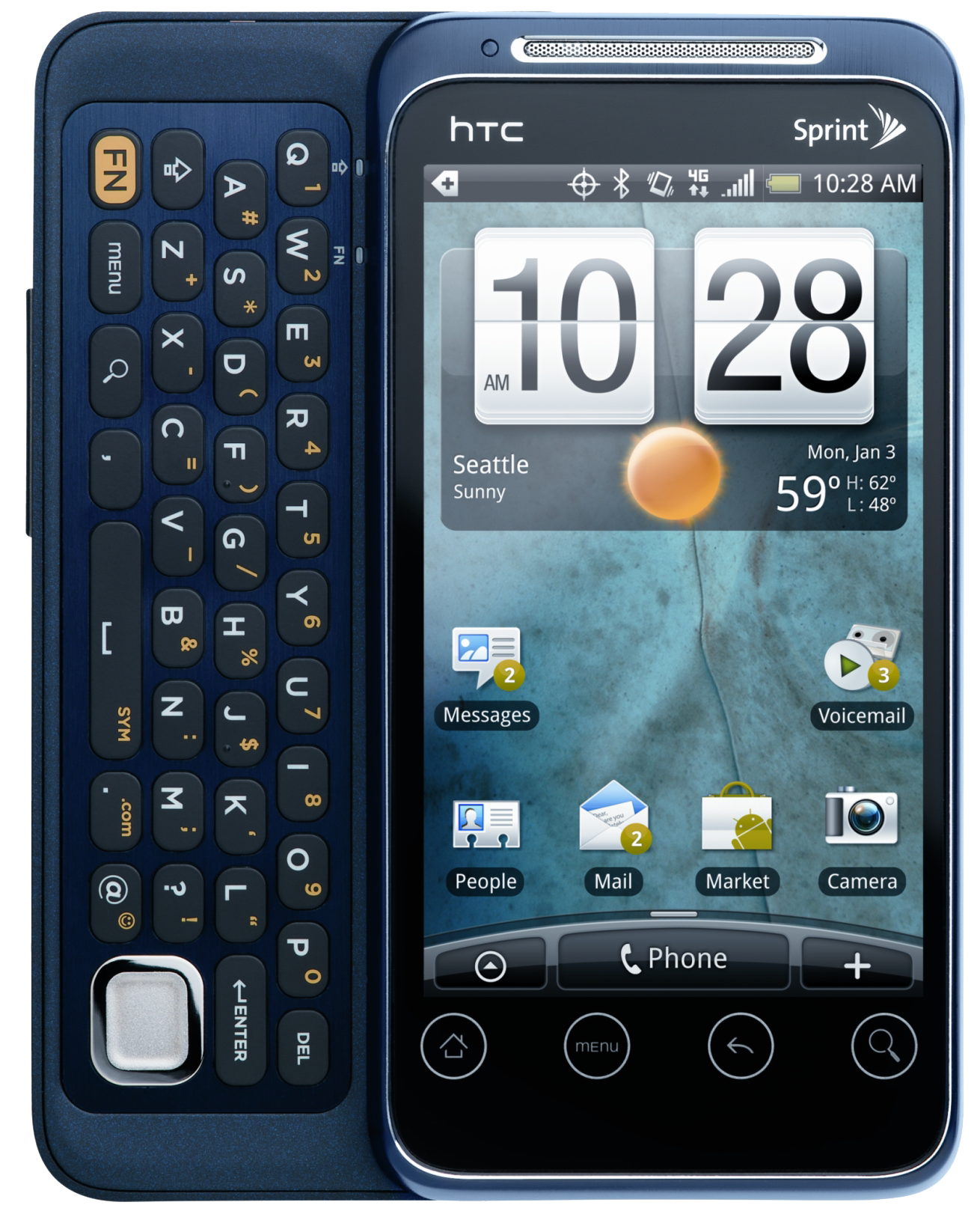 HTC EVO Shift Open PNG