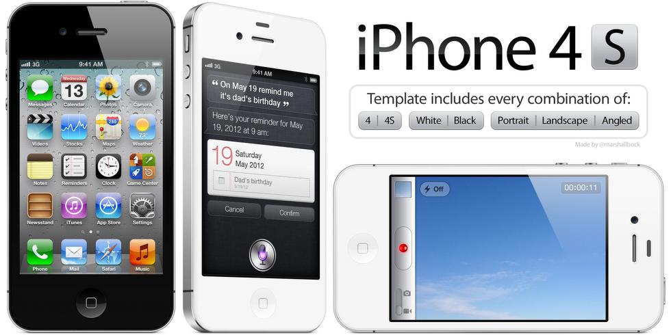 Plantillas del iPhone 4/4S   PoderPDA