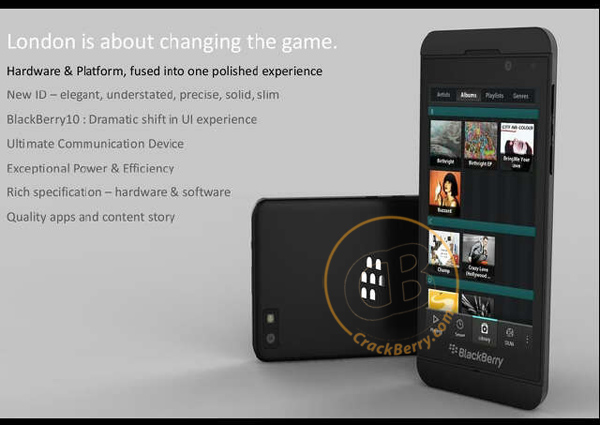 BlackBerry London, Primera Imagen Filtrada