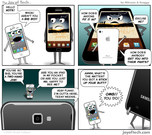 iPhone vs Galaxy Note