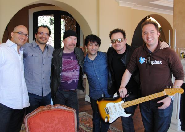 Dropbox Bono y The Edge