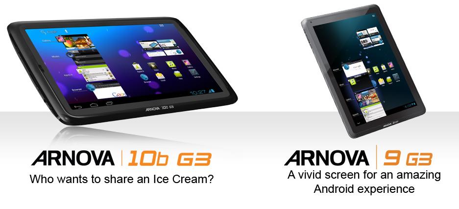 archos &3 Arnova tablets