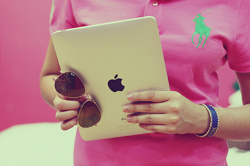 iPad and sunglasses