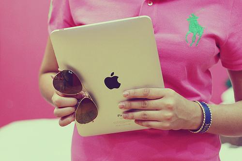 iPad and sunglasses