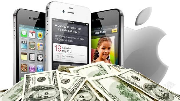 Apple-Lofo-iphone-4GS-and-Money