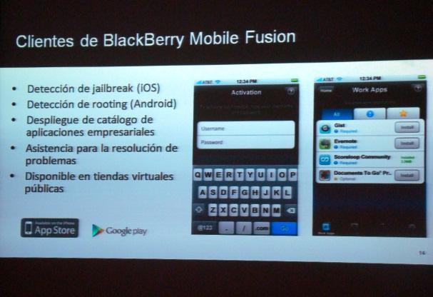 BlackBerry Mobile Fusion 16