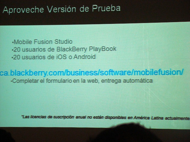 BlackBerry Mobile Fusion 20