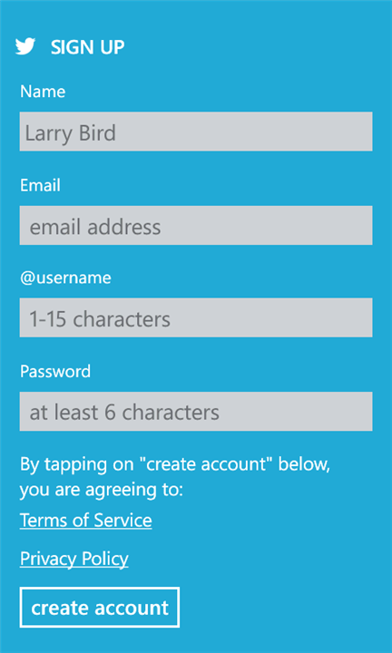 Twitter Windows Phone5