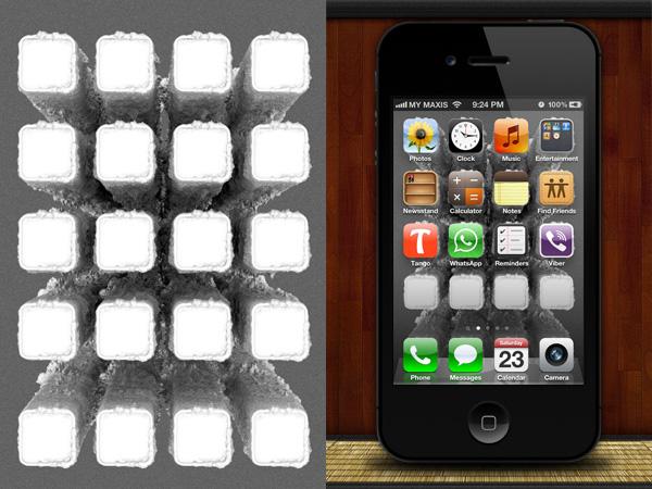Fondos de pantalla para resaltar apps en iphone poderpda nano tubes se basa en la fotografa macro para crear una matriz de tubos microscpicos bajo los iconos de nuestras apps malvernweather Image collections