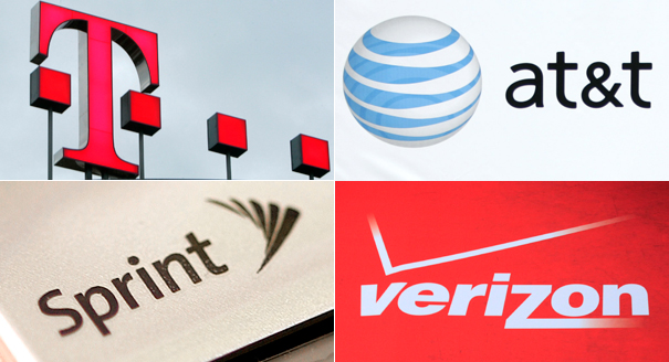 T-Mobile AT&T Sprint and Verizon