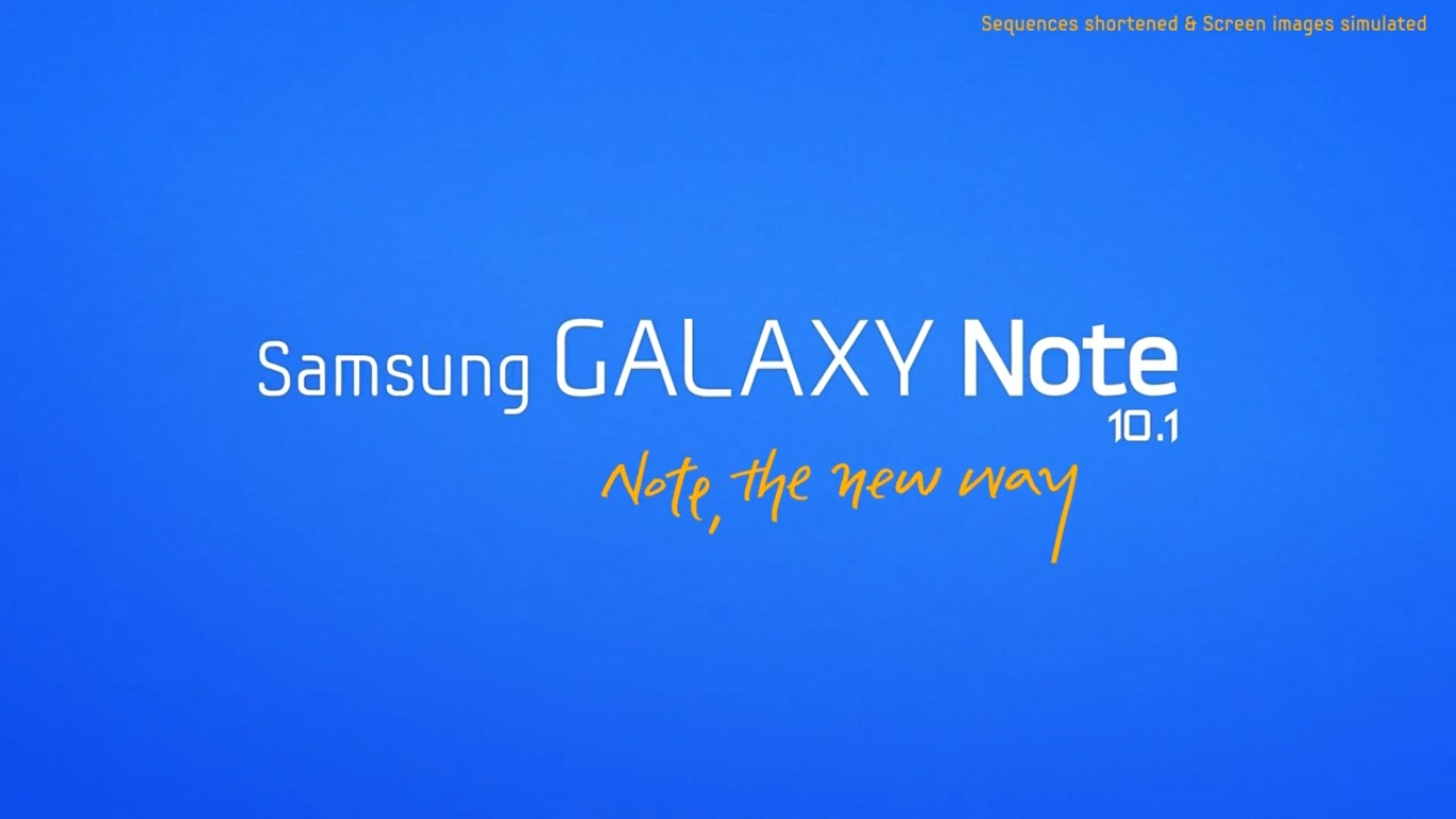 Galaxy Note 10.1 Video