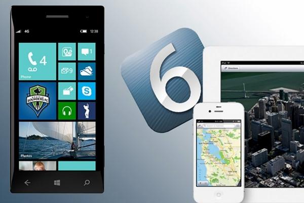 WP 8 vs iOS 6