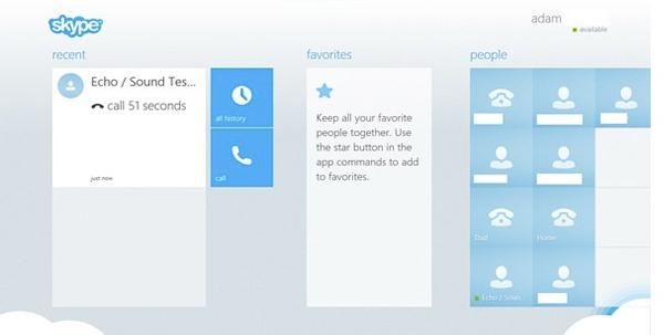 skype interfaz moderna