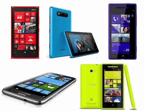 Windows Phone 8-Samsung-Nokia-HTC