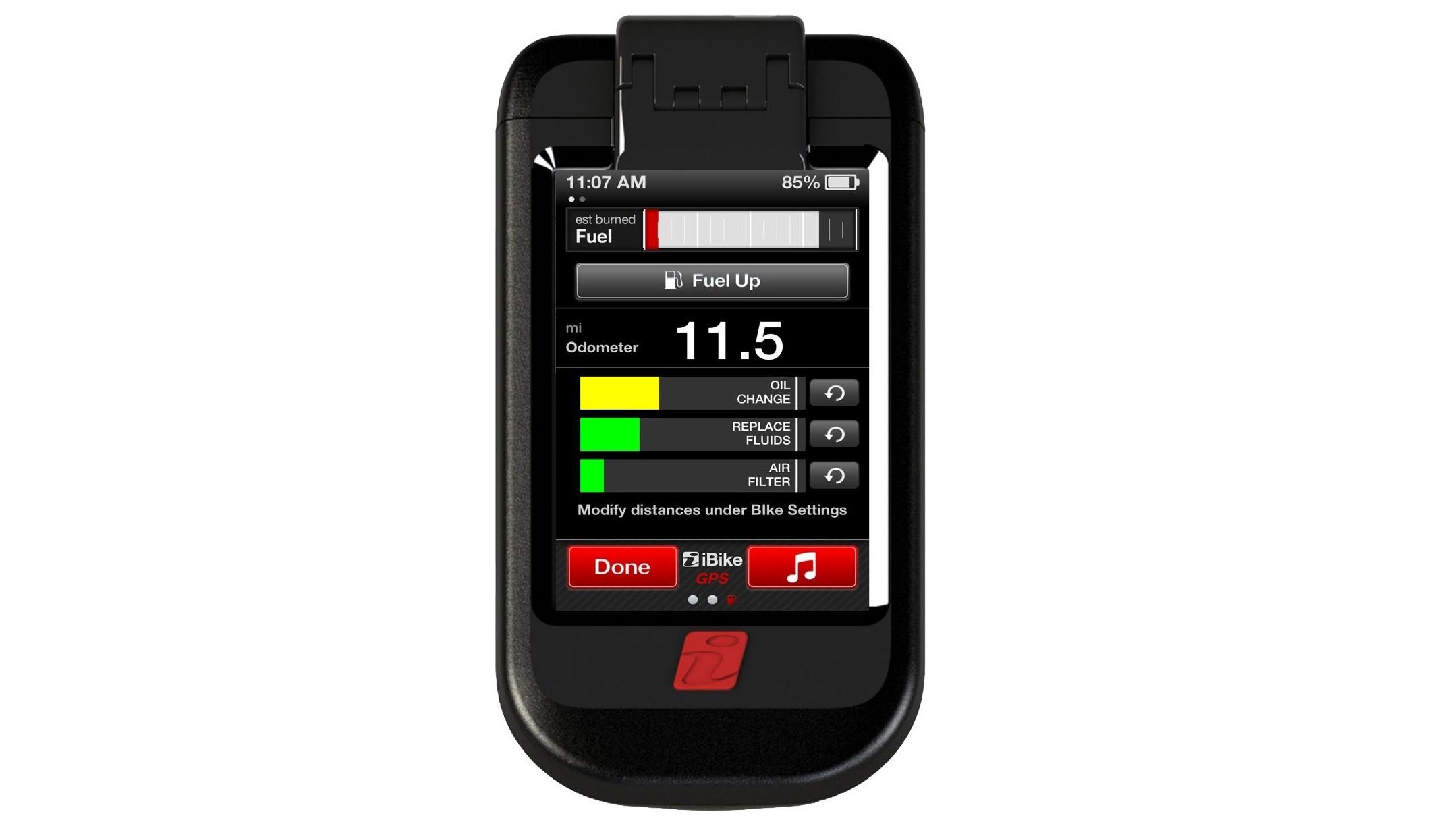 iBike MOTO Fuel Screen