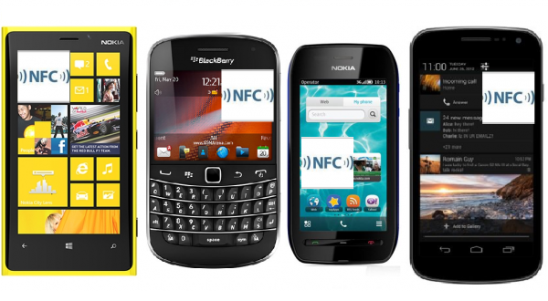 nfc smartphones android symbian blackberry nokia samsung android lumia
