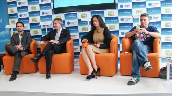 De izq. a derecha: Gabriel Charles, Juan Abellán, Paola Ortega y Paco Ragageles