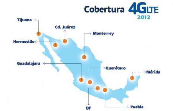 Cobertura 4G LTE 2012