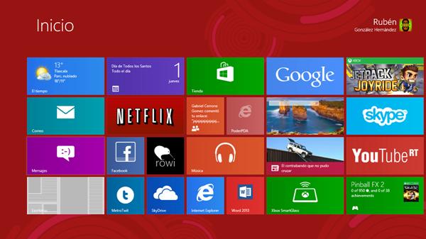Inicio Windows 8