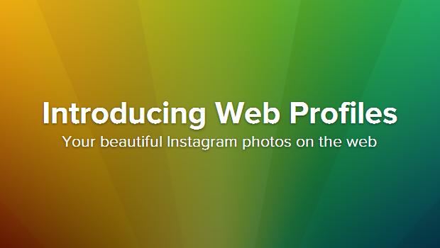 Introducing Web Profiles • Instagram