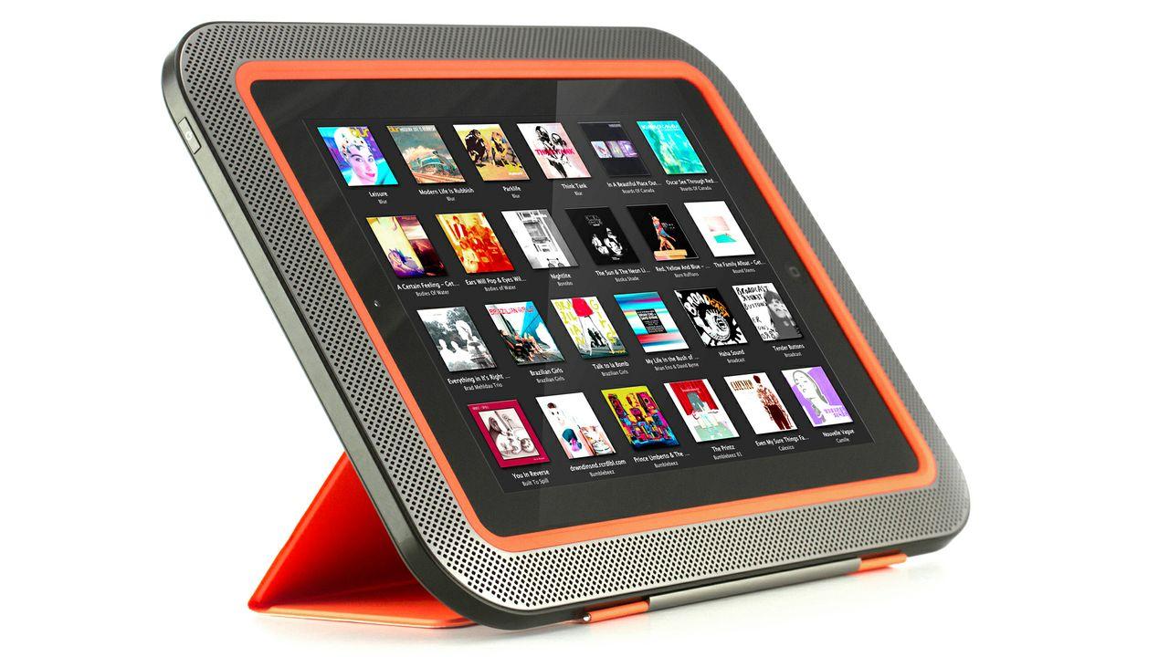 Funda con 8 bocinas integradas para iPad | PoderPDA