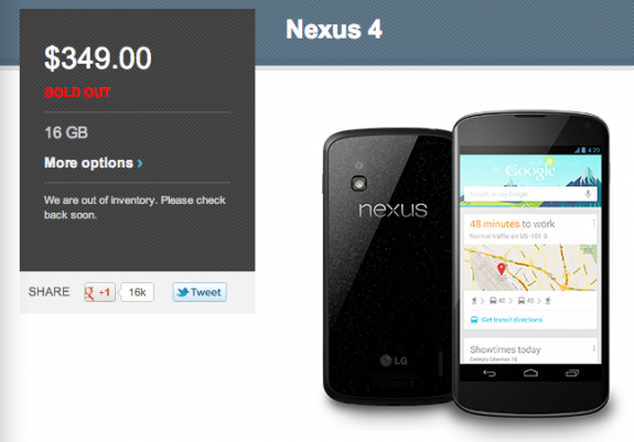 16GB-Nexus-4-Out-of-Stock