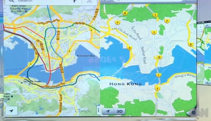 Comparativo mapas