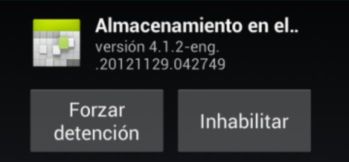 Desactivar aplicaciones de sistema Android