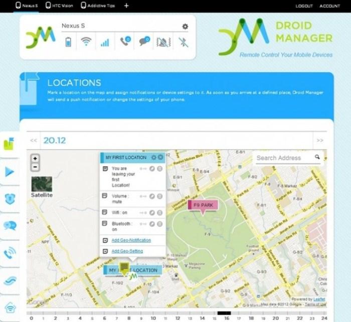 Droid-Manager-localización-web