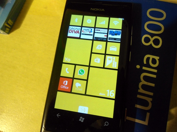 Lumia 800 con Windows Phone 7.8