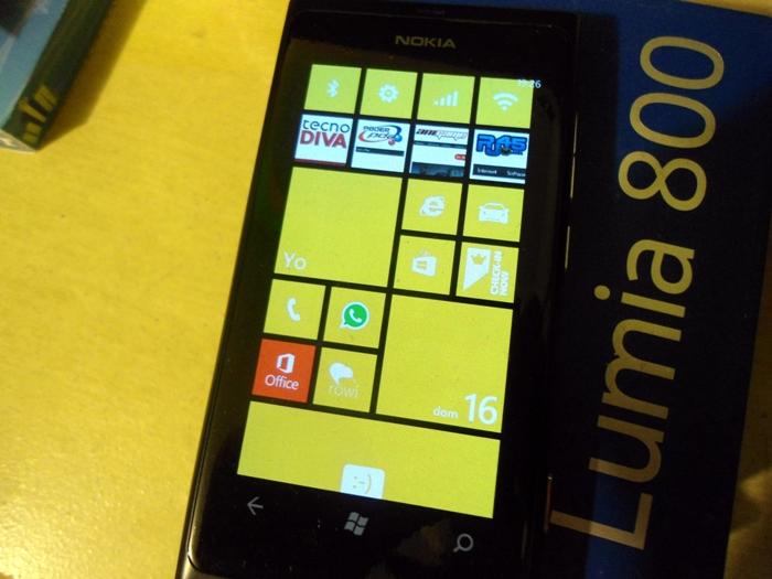 Lumia 800 con Windows Phone 7.8