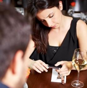 Smartphones durante la comida