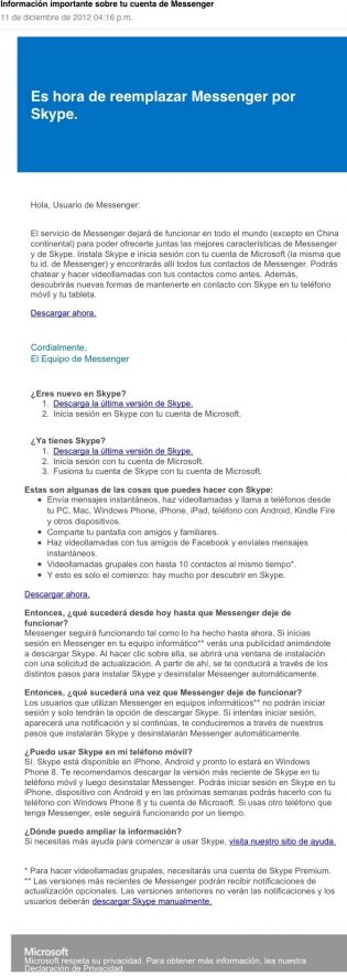 hotmail completo adios