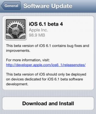 ios 6.1 4 beta