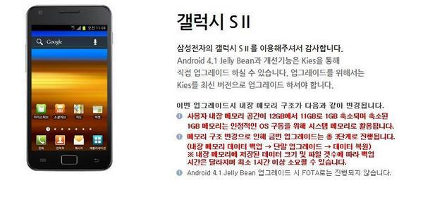 Android Jelly Bean para Galaxy S II