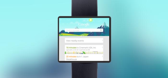 Concepto de smartwatch con Google Now