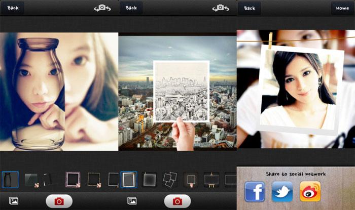 Screenshots Aplicación PIP Camera