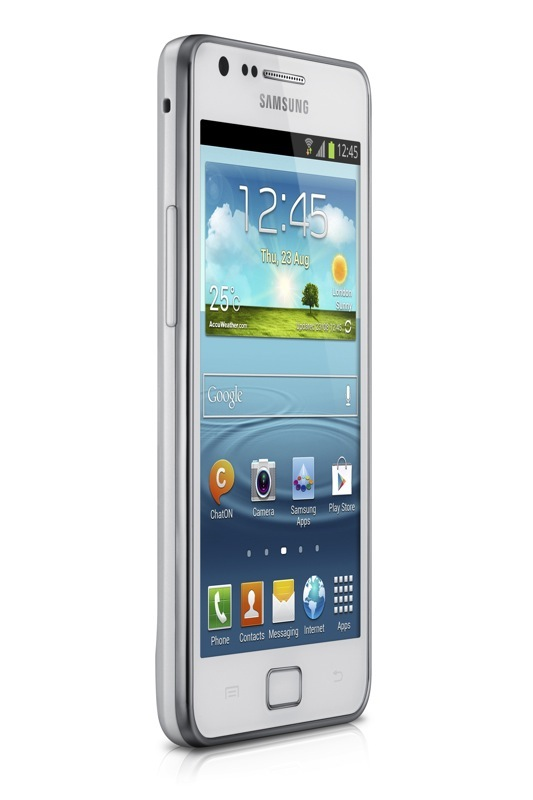 Imagen en Ángulo del Samsung Galaxy S II Plus Blanco