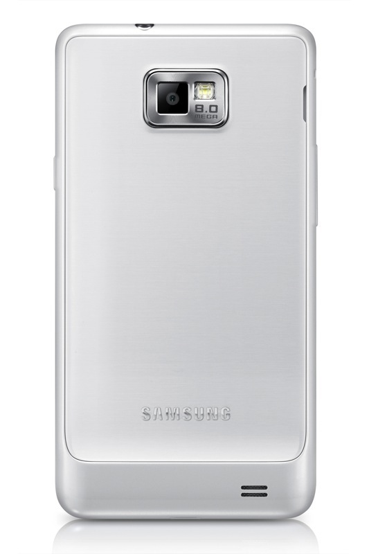 Imagen Trasera del Samsung Galaxy S II Plus Blanco