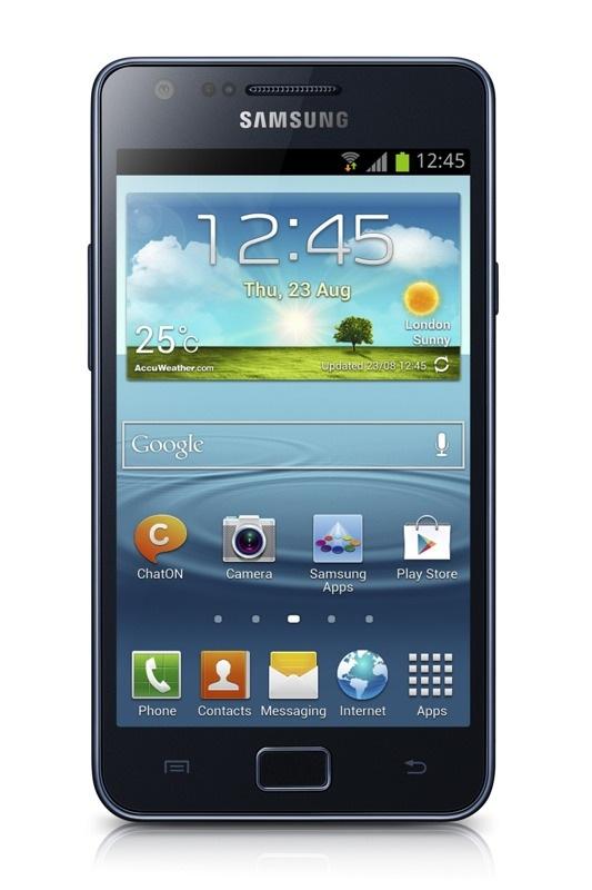 Imagen Frontal del Samsung Galaxy S II Plus Negro